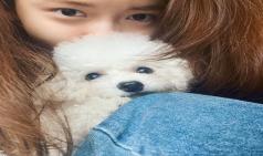 윤아, 반려견 '래오'품에 안고 상큼 매력 뽐내