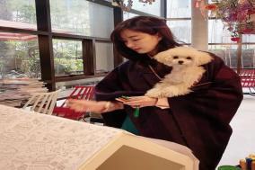 배우 김사랑, 반려견과의 일상 유튜브 채널 운영