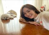 배우 박민영 솜뭉치 같은 반려견과 함께 찰칵!
